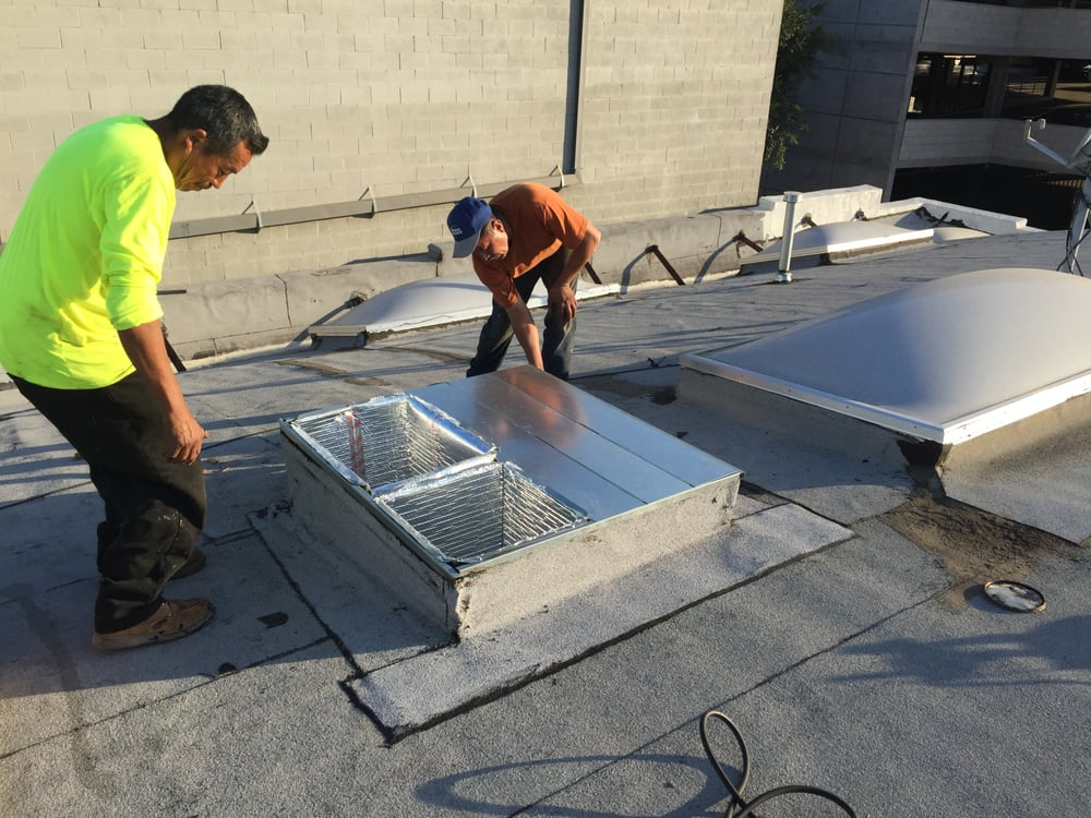 We Perform All Work Weather Proofing Roof Curb Before Ac