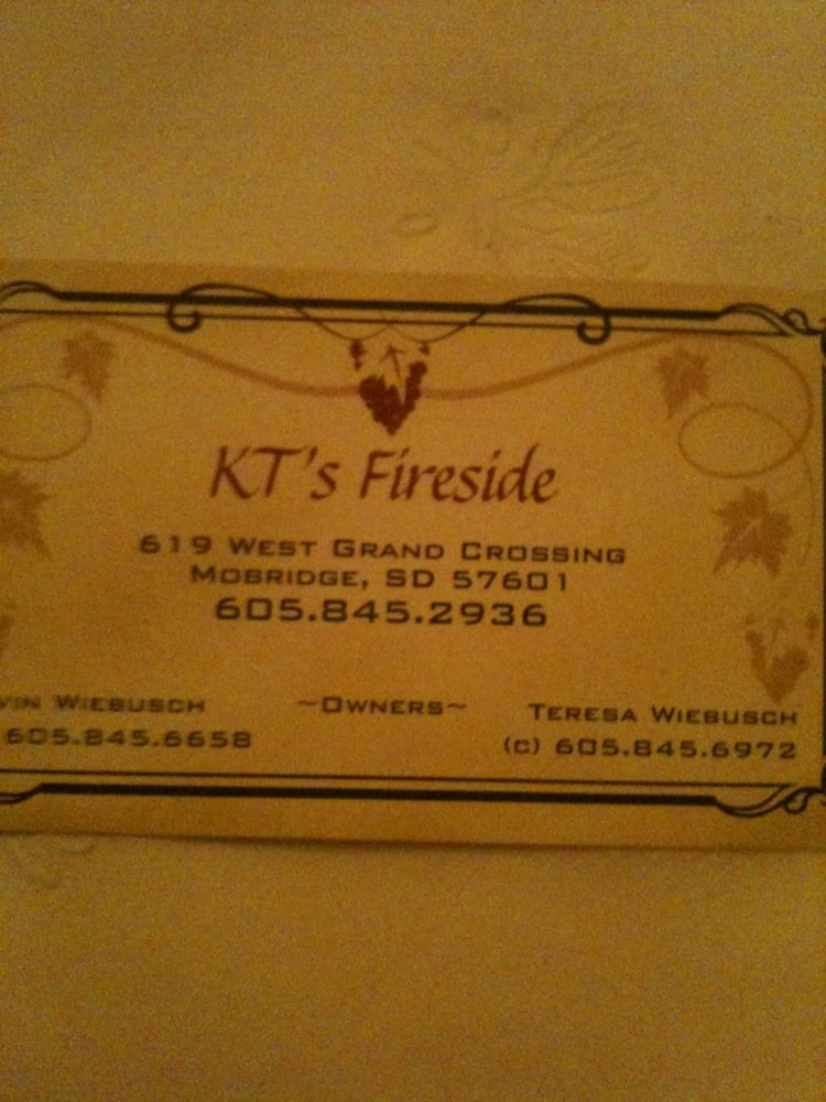 KT's Fireside Supper Club: 619 W Grand Xing, Mobridge, SD