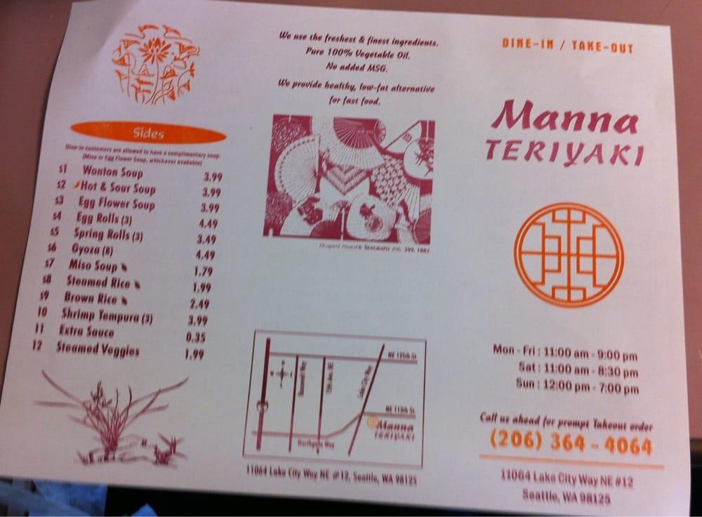 Manna Teriyaki - 29 Photos & 51 Reviews - Japanese - 11064 Lake City