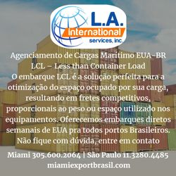 L A Logistics USA Brazil Freight Forwarder - Get Quote