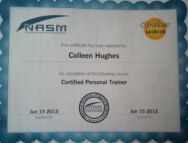 NASM Certificate - Personal Trainer - Yelp