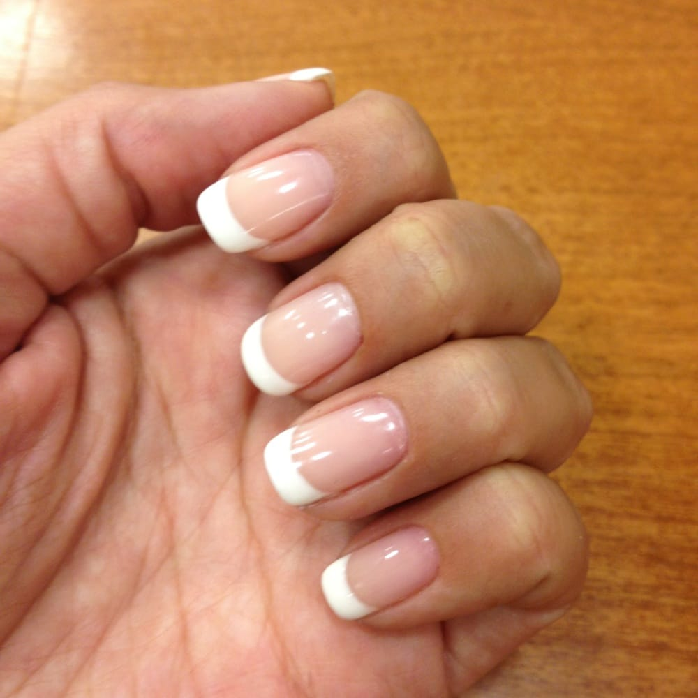 Gelish French manicure. I\'ve never had a manicure with lines so ...