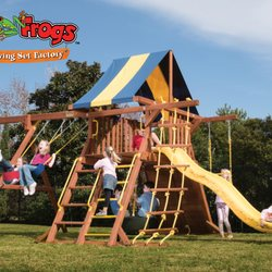 Tree Frogs Wooden Swing Set Factory Houston 19 Photos 12
