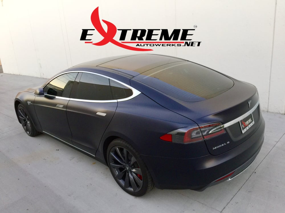 Tesla Model S P85D with complete XPEL Stealth Wrap, Prestige Spectra