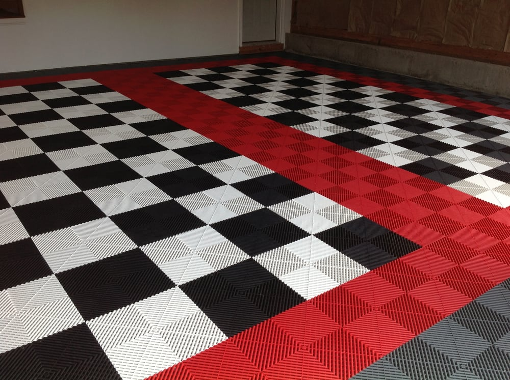 Garage Floor Tiles Come In A Variety Of Colors And Adds Durability - Garage floor tracks