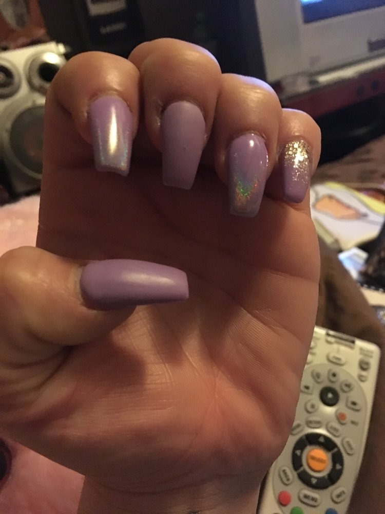 Lavender matte n chrome tips looks amazing - Yelp