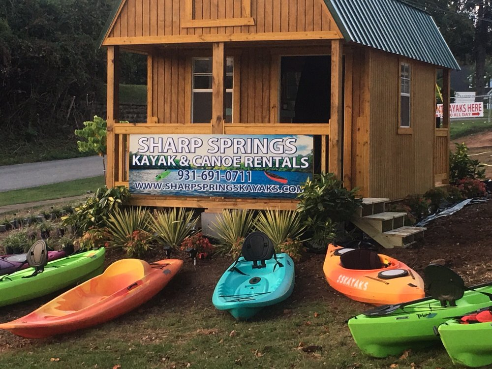 Sharp Springs Kayak & Canoe Rentals: 106 Sharp Springs Rd, Winchester, TN