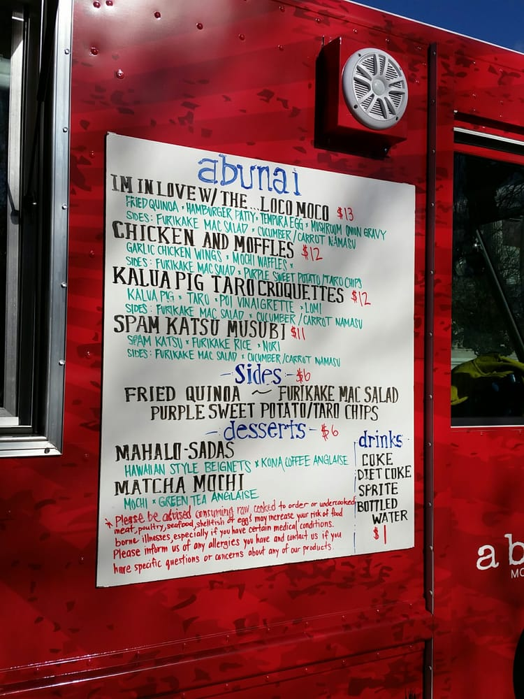Abunai Food Truck Dc 1st Hawaiian Food Truck Round These Parts
