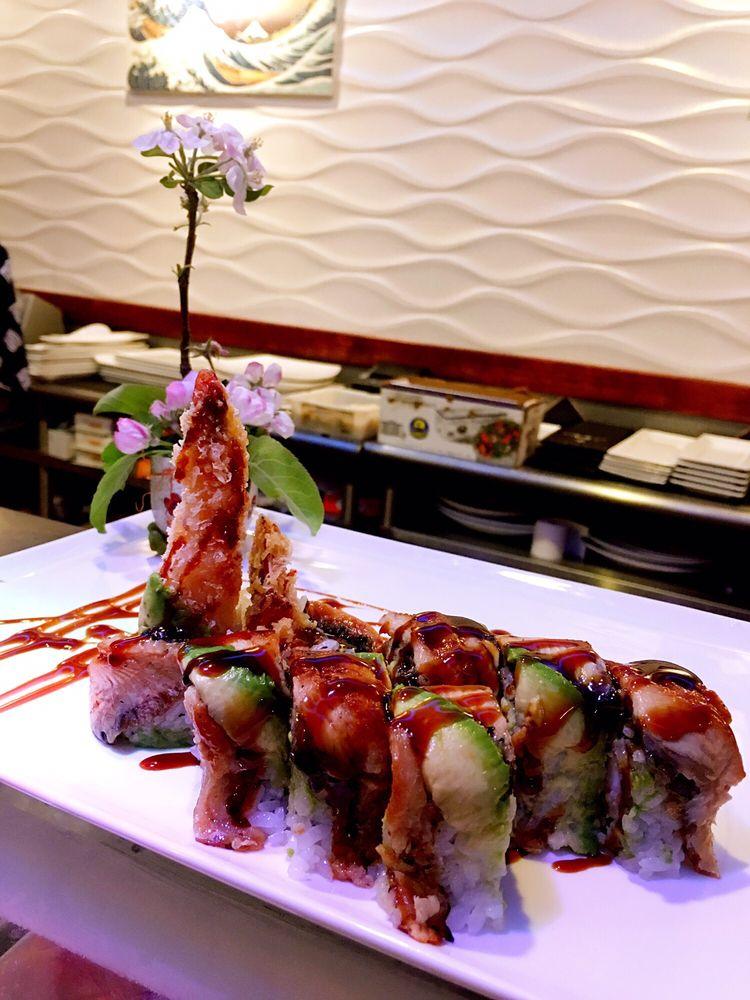 Food from Sakura Hibachi & Sushi