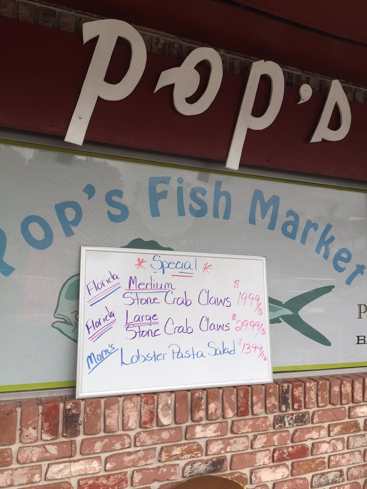 If you 39 re looking for stone crab and you don 39 t want to pay for Pops fish market