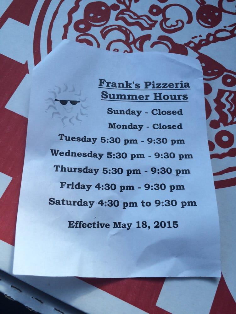 Frank's Pizzeria: 618 Duss Ave, Ambridge, PA
