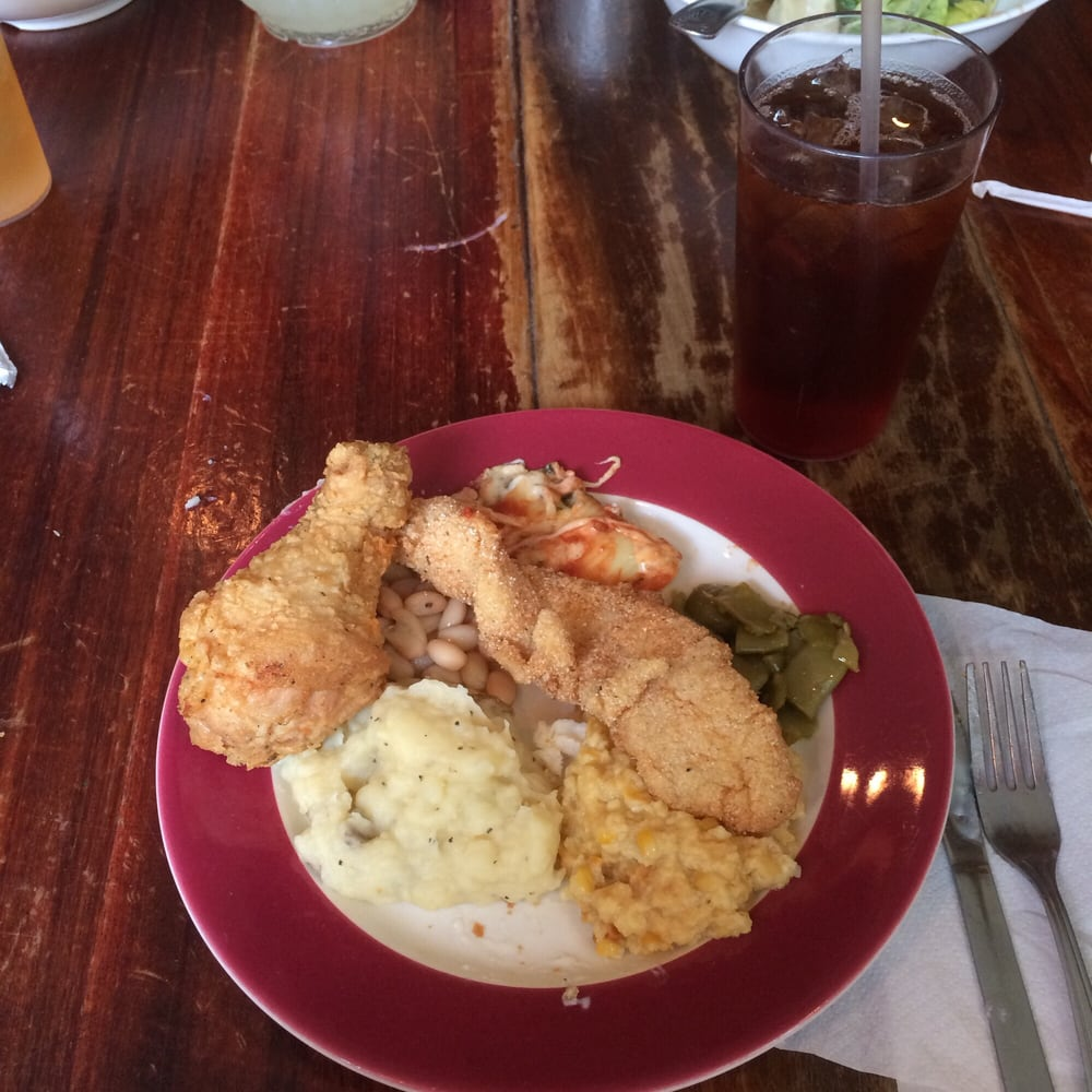 Catfish With All Fixins Photo of Monell's Dining & Catering - Nashville, TN, United States. All the