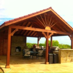 Photo Of HJ Cedar Patio Covers And Stamped Concrete   Dallas, TX, United  States