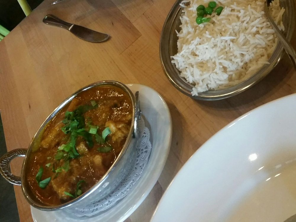 Chicken curry with eggplant soooo good yelp for Aroma indian cuisine napa