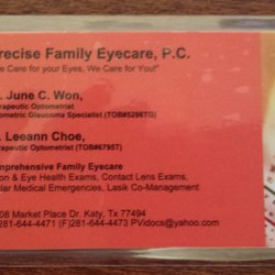 Precise family eyecare optometrists 25108 market place dr katy photo of precise family eyecare katy tx united states their business card colourmoves