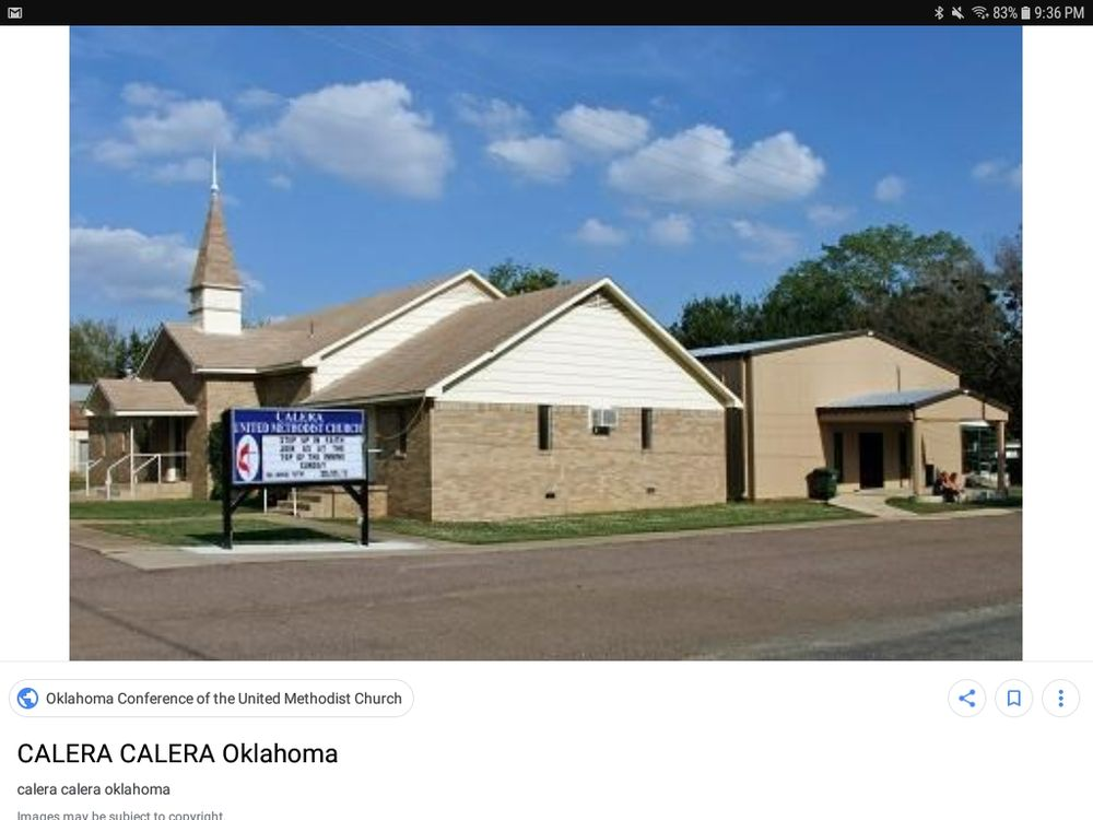 Calera United Methodist Church: Calera, OK