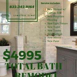 photo of gateway to greener katy tx united states total bath remodel bathroom remodeling katy