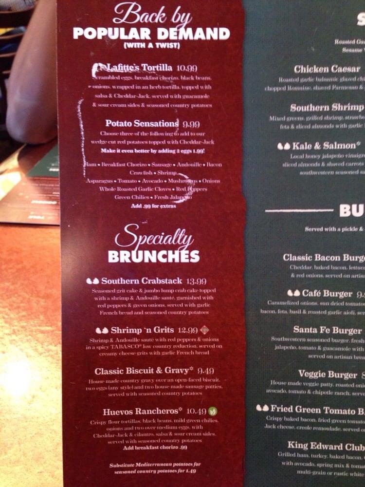 Broken Egg Cafe Menu Jacksonville Fl