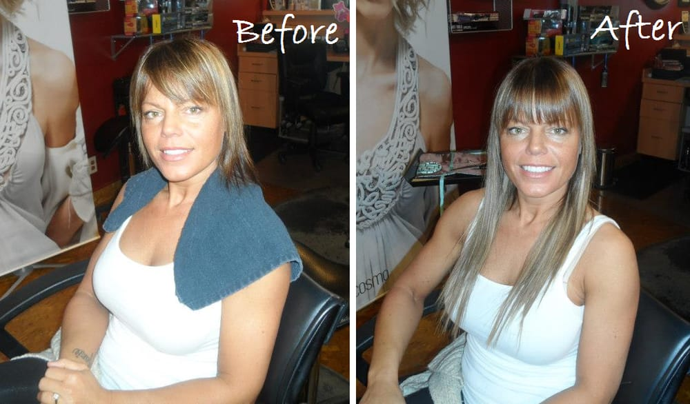 Hot Heads Tape In Hair Extensions Before And After Done By