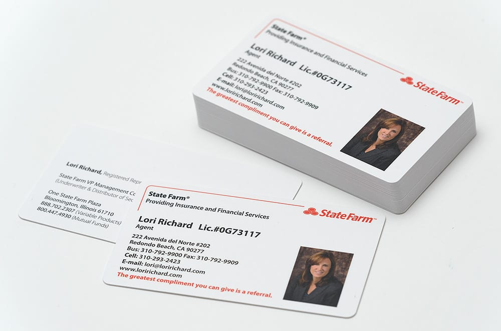 Our favorite state farm agent lori richard loris cards are 16pt photo of aw print works torrance ca united states our favorite state colourmoves