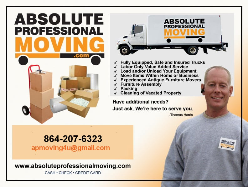 Absolute Professional Moving: Moore, SC