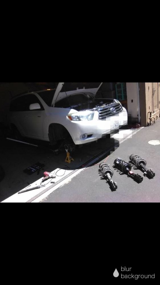 Replacing front struts on a 2008 Toyota Highlander - Yelp