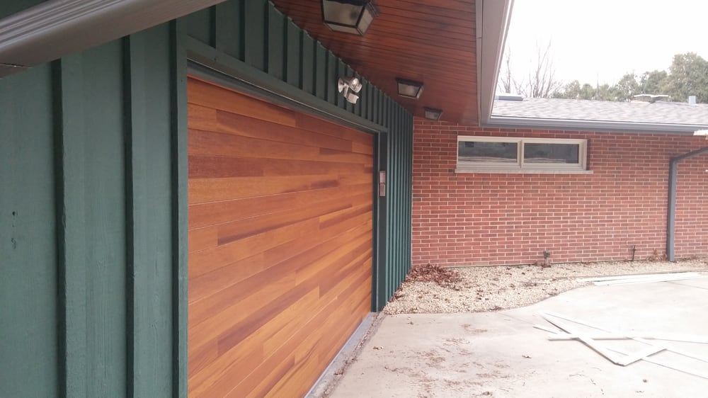 Photo of Matt\u0027s Garage Doors - West Chicago IL United States. AFTER & AFTER: This stunning C.H.I. plank series garage door in cedar ...