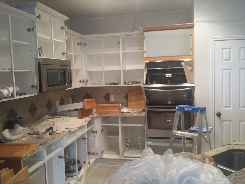 Photo Of Patchmasters Austin Tx United States Kitchen Cabinets Repaint After Water