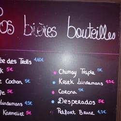 Le Pery - Toulouse, France. La carte de bière