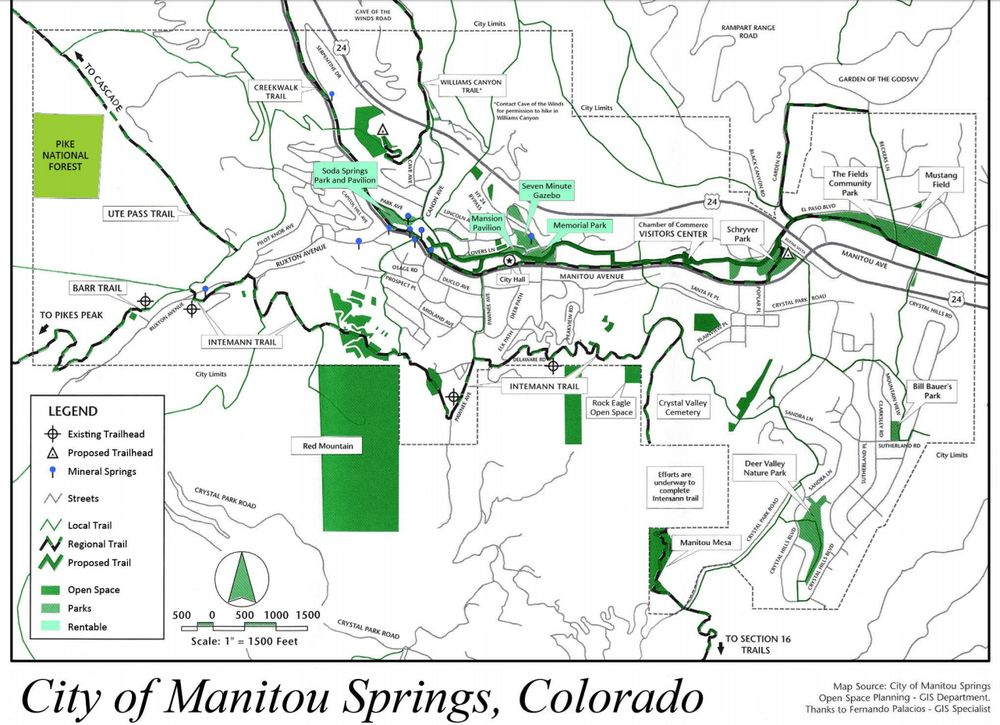 Map Of Manitou Springs Courtesy Of The Municipality Yelp