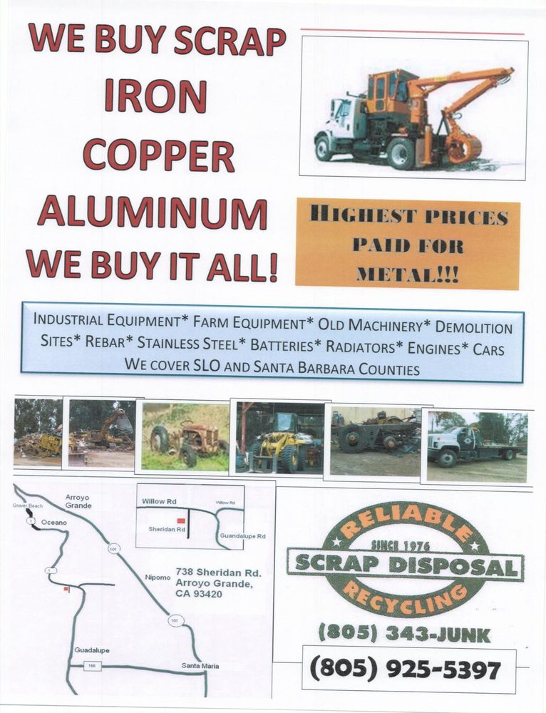 Reliable Recycling: 738 Sheridan Rd, Arroyo Grande, CA
