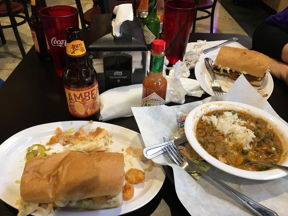 Food from Lassalle's New Orleans Deli