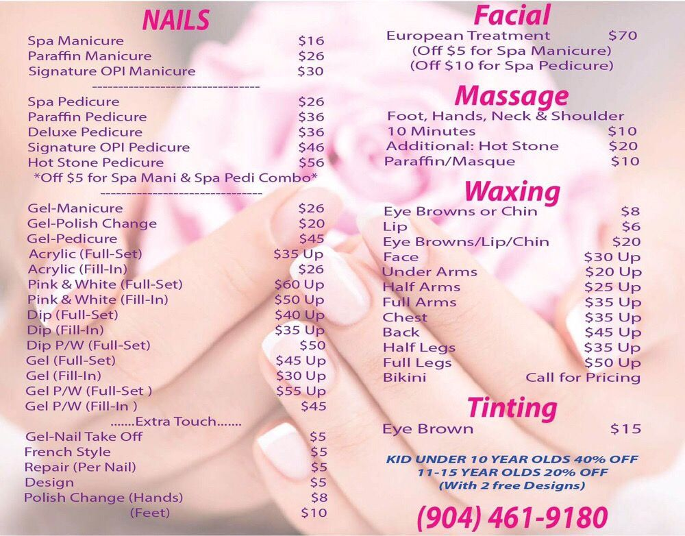 Photo Of Angel Nails And Spa St Augustine Fl United States
