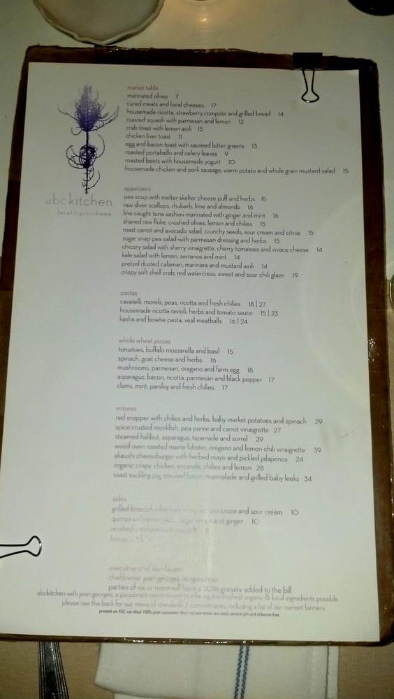 2012 06 18 Dinner Menu Yelp