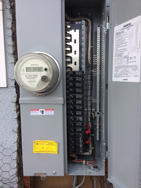 New Recessed Siemens 200 Amp Panel Installed  Along With New 2inch Conduit  Feeder Wires Etc