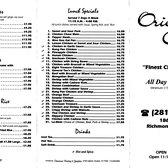 Orient Cafe Richmond Tx Number