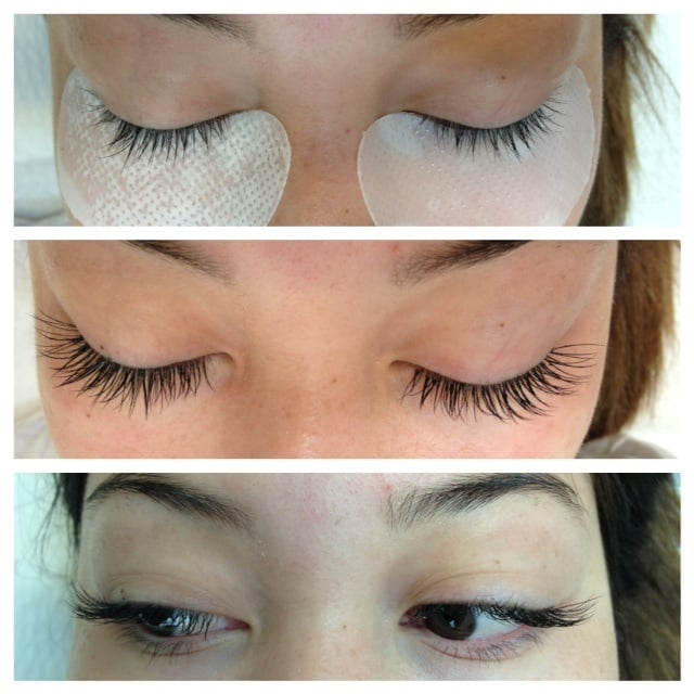 Before and After faux mink lash extensions - Yelp