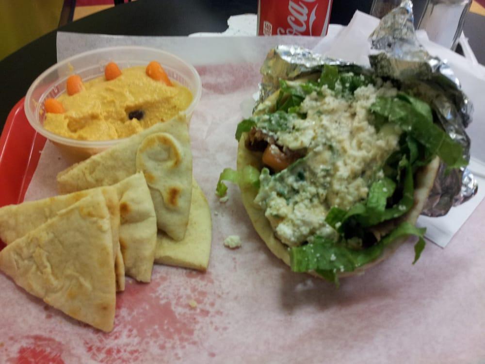 Gyros, Pitas And Hummus. Yum.