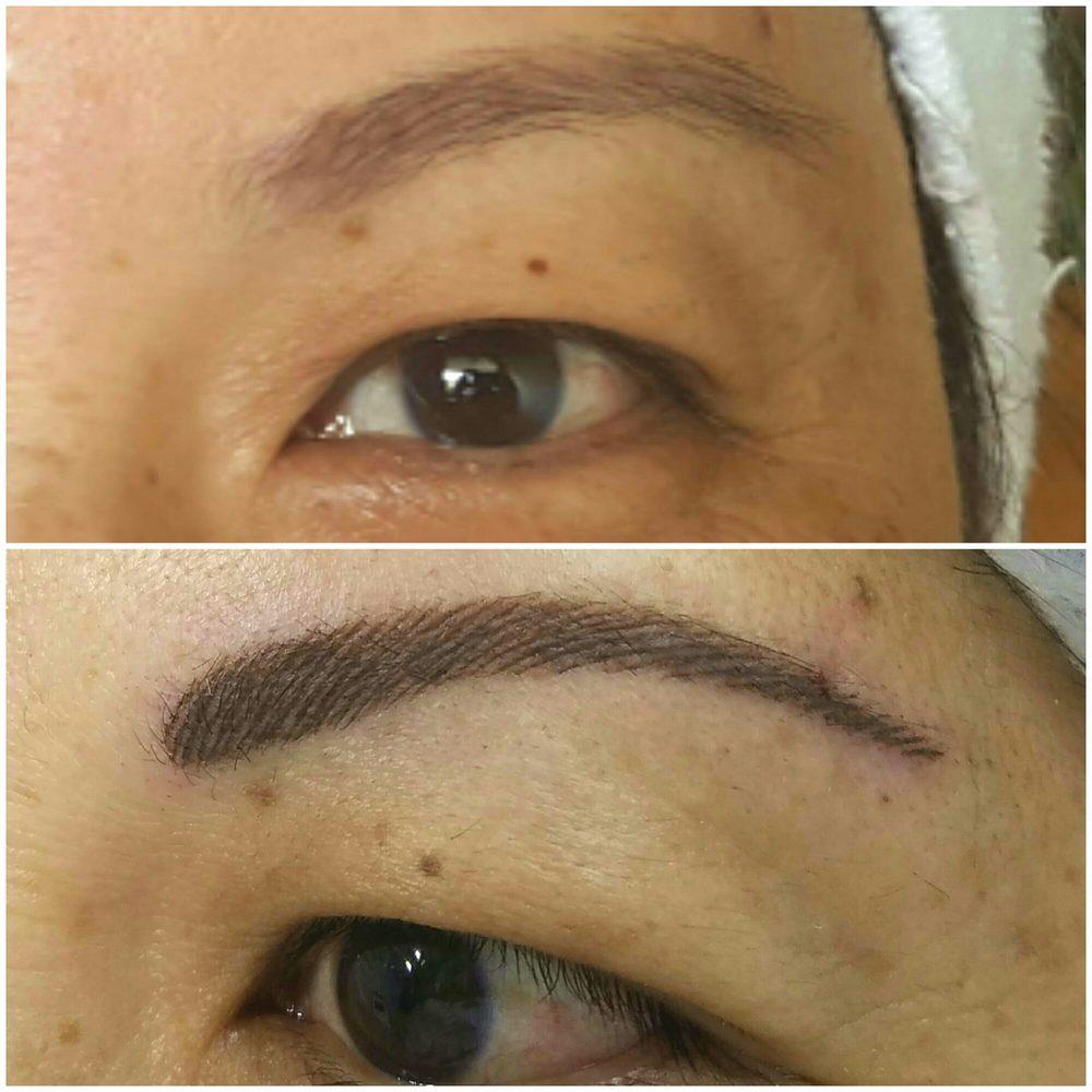 Micropigmentacion de cejas pelo a pelo- hair strokes Recuerda que ...