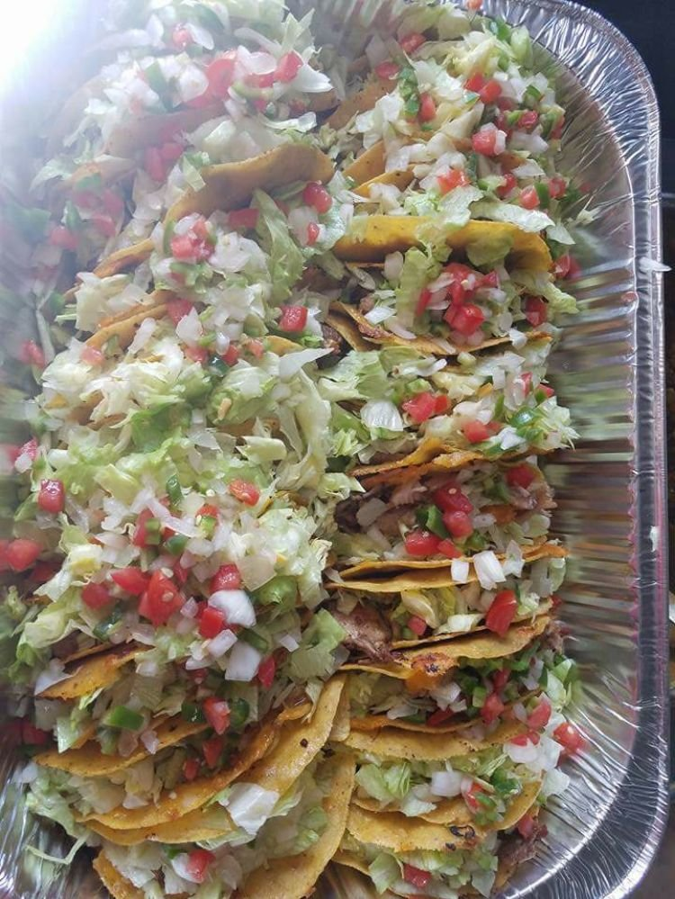 Tray of grilled tacos. - Yelp