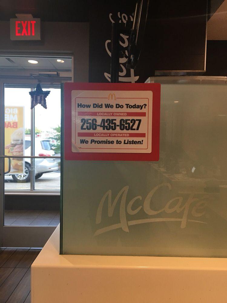 McDonald's: 17956 Hwy 280, Dadeville, AL