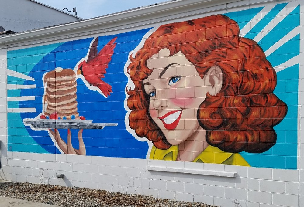 Red Bird Cafe Mural: 696 Walnut St, Dayton, IN