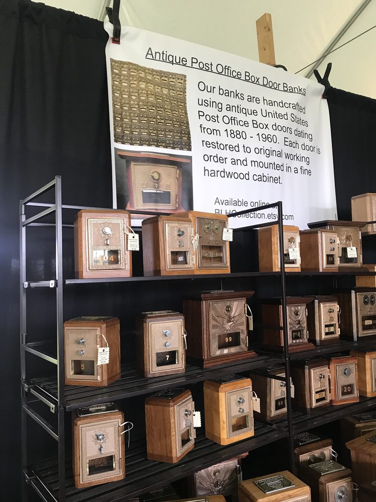 Photo of Mountain Heritage Arts and Crafts Festival - Harpers Ferry, WV,  United States - Antique Post Office Box Doors Find New Life As A Coin Bank. - Yelp