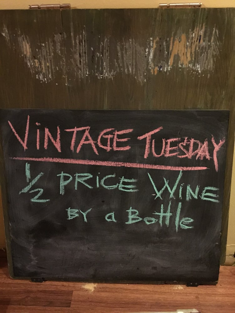 Half Price Wine By A Bottle Every Tuesday Yelp