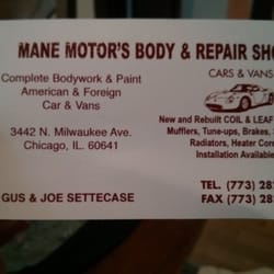 Mane motors body repair shop auto repair 3442 n milwaukee ave photo of mane motors body repair shop chicago il united states colourmoves
