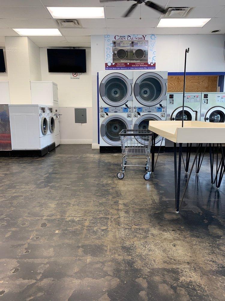 Washin' Anniston Coin Laundry: 829 Quintard Ave, Anniston, AL