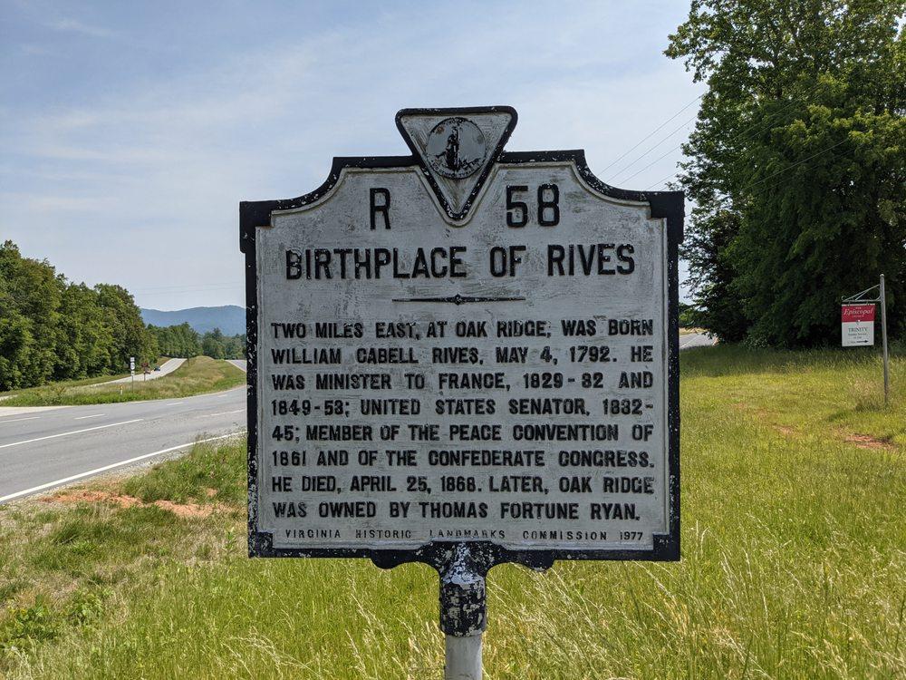Birthplace of Rives: 324 Thomas Nelson Hwy, Arrington, VA
