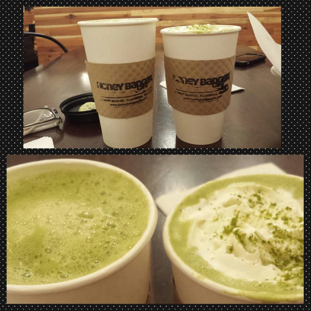 Left Peach And Strawberry Green Tea 325 Right Picco Latte Matcha Can Lemongrass 425 Both Regular Size Yelp