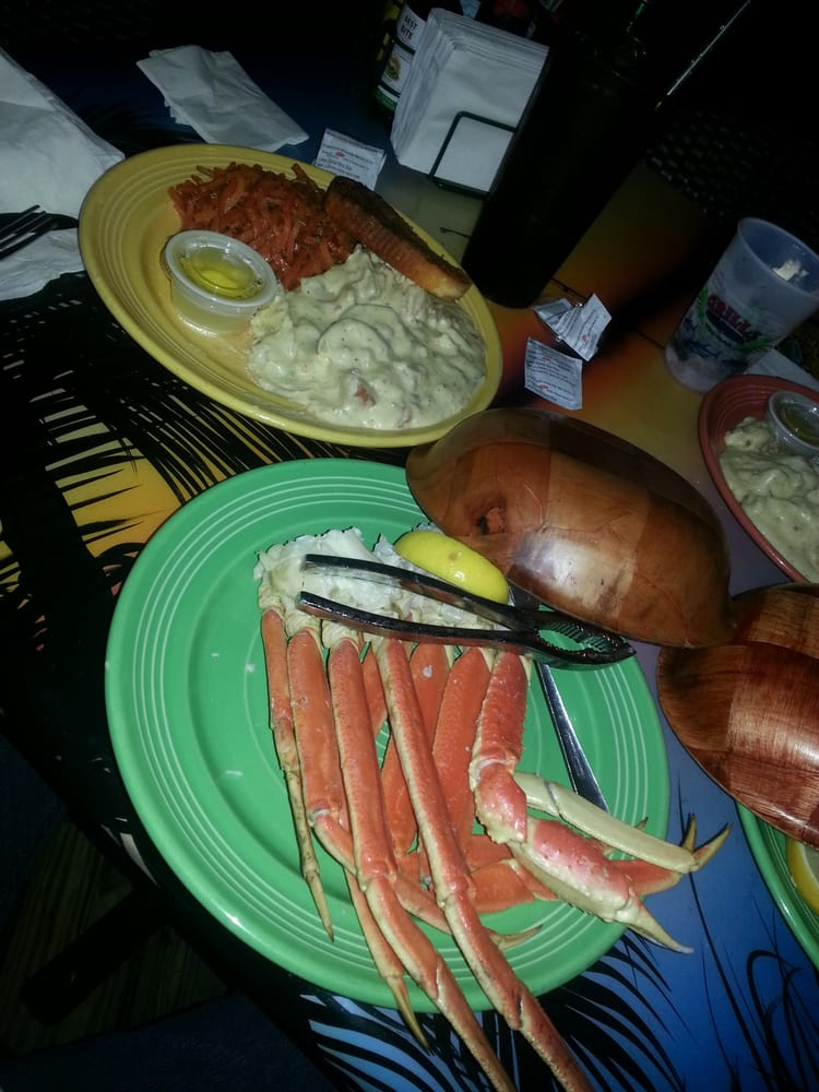 Crab dinner with carroys and tators yelp - Grills seafood deck tiki bar ...