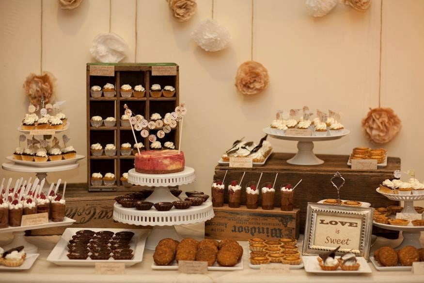 Wood Dessert Table ~ Our rental wooden boxes are a great addition to your
